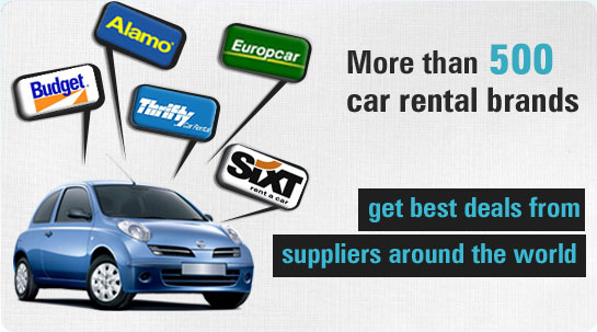 More than 500 car rental brands get best deals from suppliers around the world